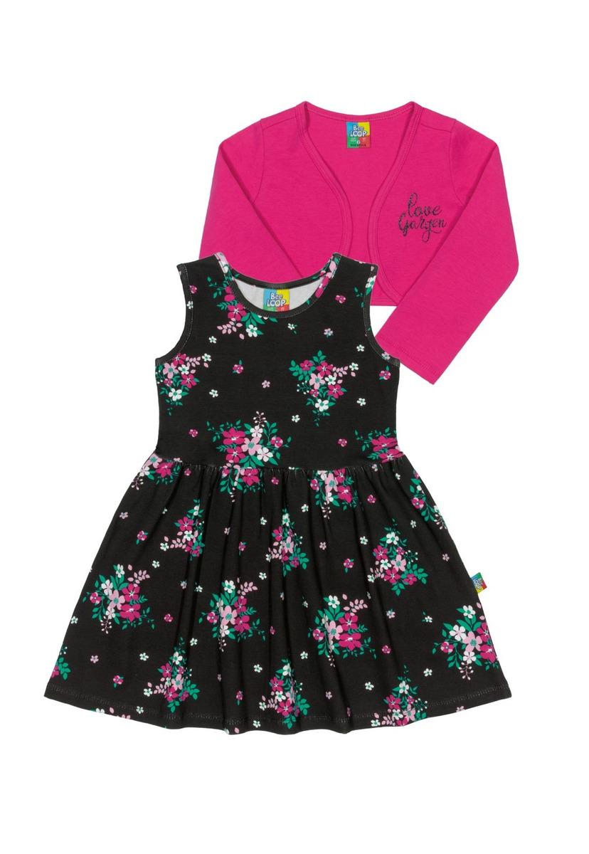 d2dc062a69 Vestido E Bolero Infantil Cotton Bee Loop - R  69