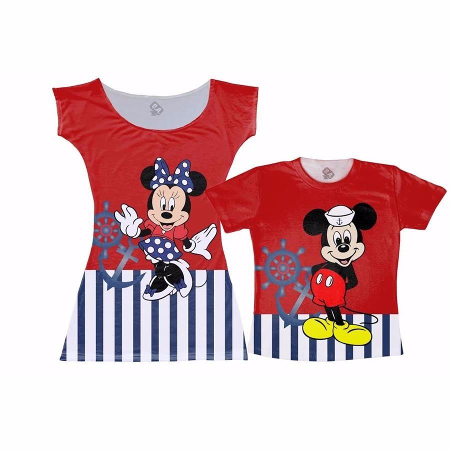 ff2a2781324cc7 Vestido E Camiseta - Tal Mãe, Tal Filho Mickey Marinheiro