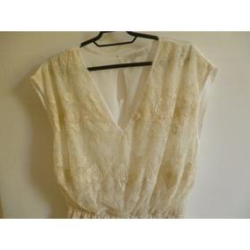 Vestido Eclectic Romantic Renda Off White Tam G Nunca Usado