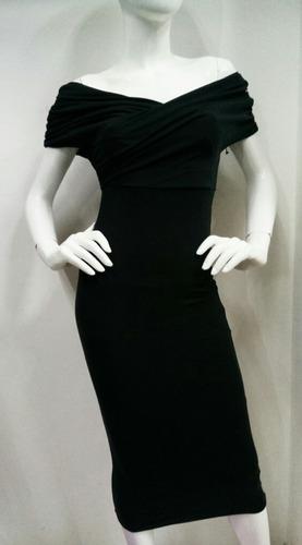 vestido elegante color negro
