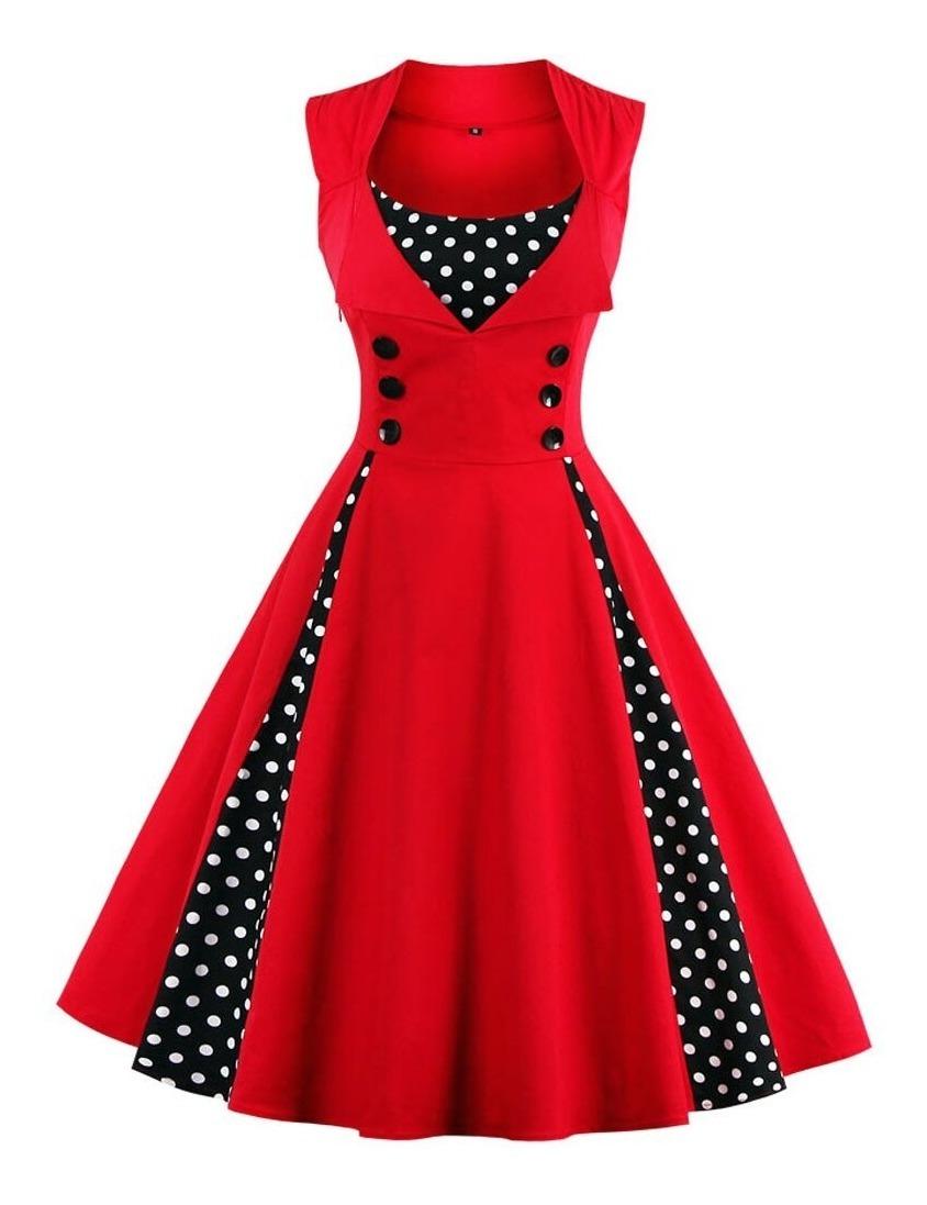 Vestido Elegante Con Diseño Años 5060 Para Fiesta De Verano