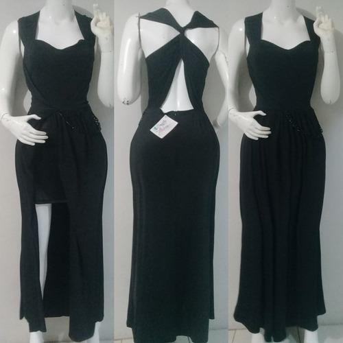 vestido elegante corto/largo color negro