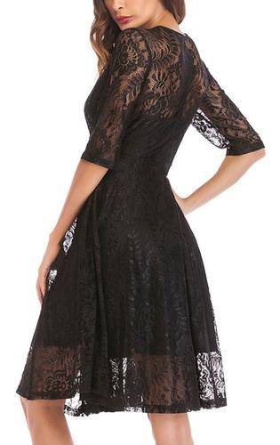 vestido elegante de fiesta, coctel, lujo, encajes ym10