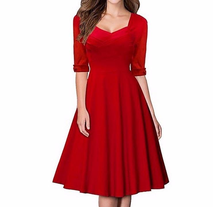 daf9bc925c466 Vestido Elegante De Fiesta Color Rojo Talla 2xl -   23.000 en ...