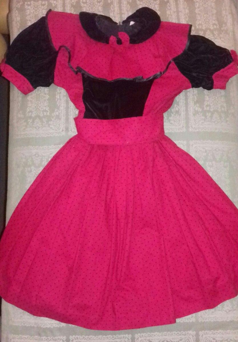 Vestido Elegante De Fiesta Para Niñas Detalles En Terciopelo - Bs ...