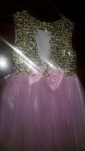 vestido elegante de niña talla 6 hermoso