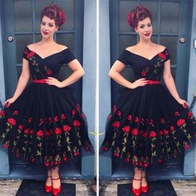 Vestido Elegante Estafa Bordado Velo Estafa Flores Fiesta Pa