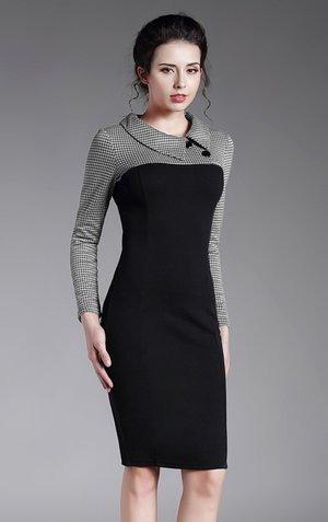 vestido elegante estilo retro clasico oficina formal casual