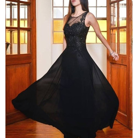 Vestido Elegante Fiesta  Bordado  Alucinante Moda Pasion