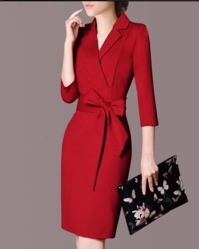 ced37a682d Vestido Elegante Formal Tipo Sastre -   1