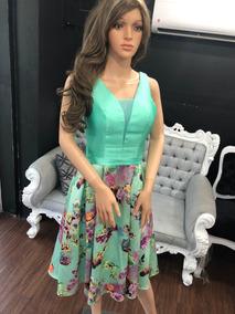 c59dcb4b9 Vestido Elegante Juvenil Menta De Fiesta Casual Graduación