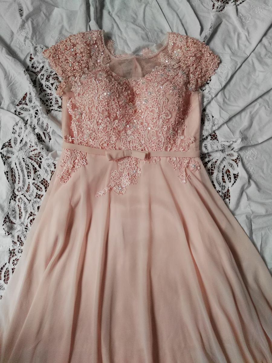 e48ba24e0f Vestido Elegante Largo Palo De Rosa (bordado En Piedras) -   200.000 ...