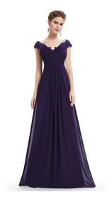 61172112ded1 Vestido Elegante Mujer De Fiesta Largo Coctel