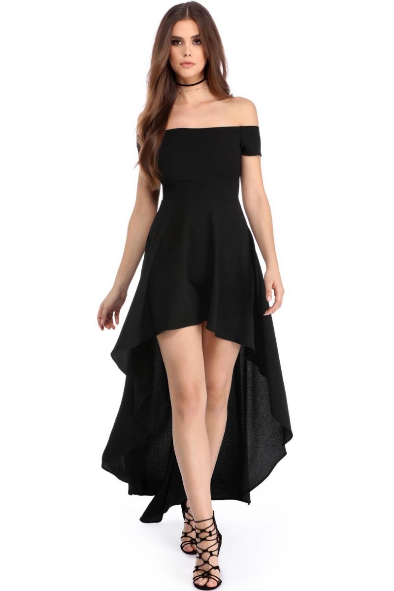 Vestidos elegantes largos color negro