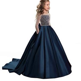 df555ea7e Vestidos De Graduacion Para Niñas Color Azul Cielo Nina - Vestidos ...