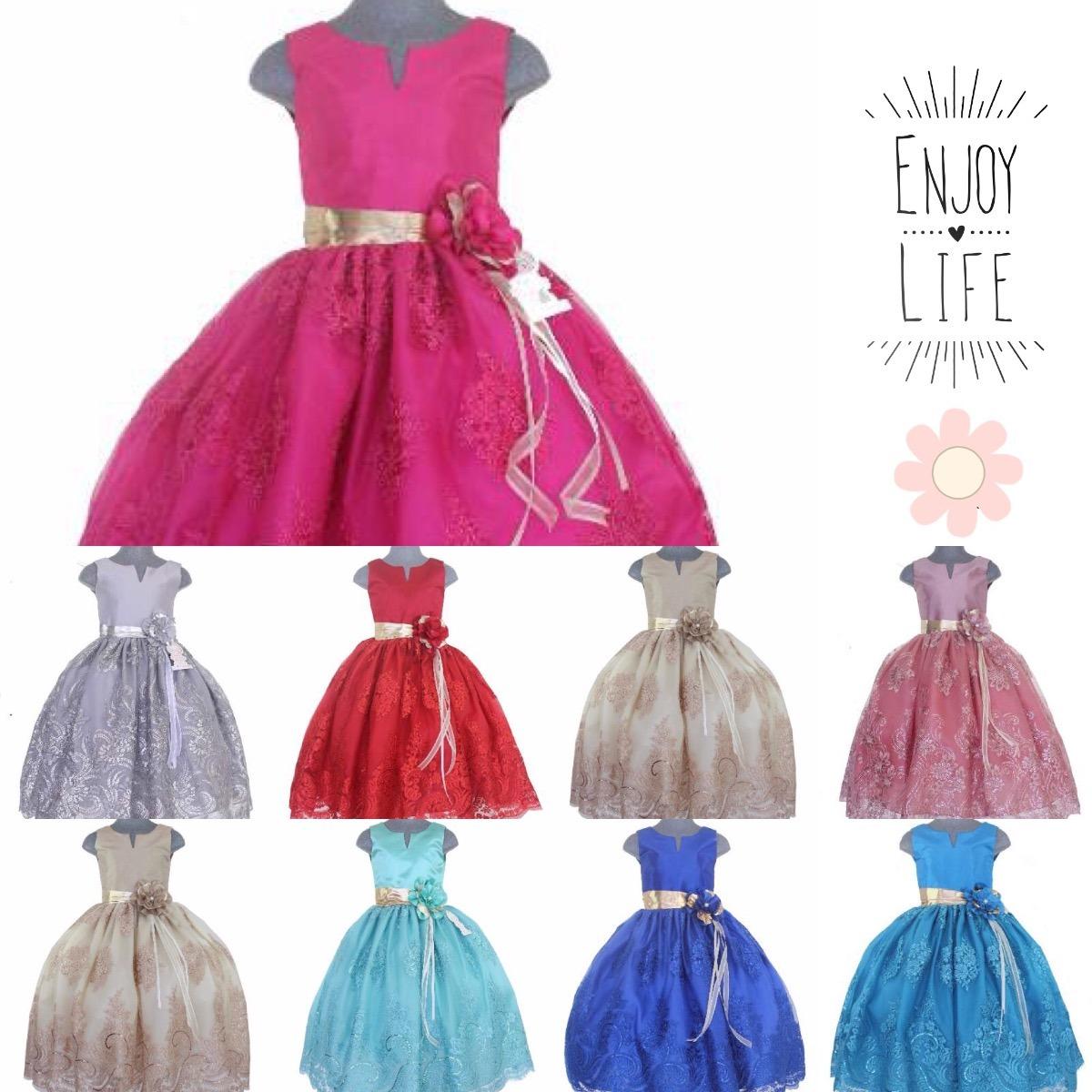 Vestido Elegante Niña Presentación N. Tres Años. Fiesta - $ 770.00 ...