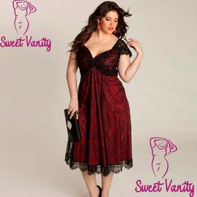 Vestido Elegante Para Gorditas Plus Size L Xl Y Xxl