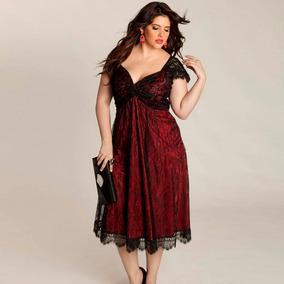 Vestido Elegante Para Gorditas Plus Size Xxl Y Xxxl