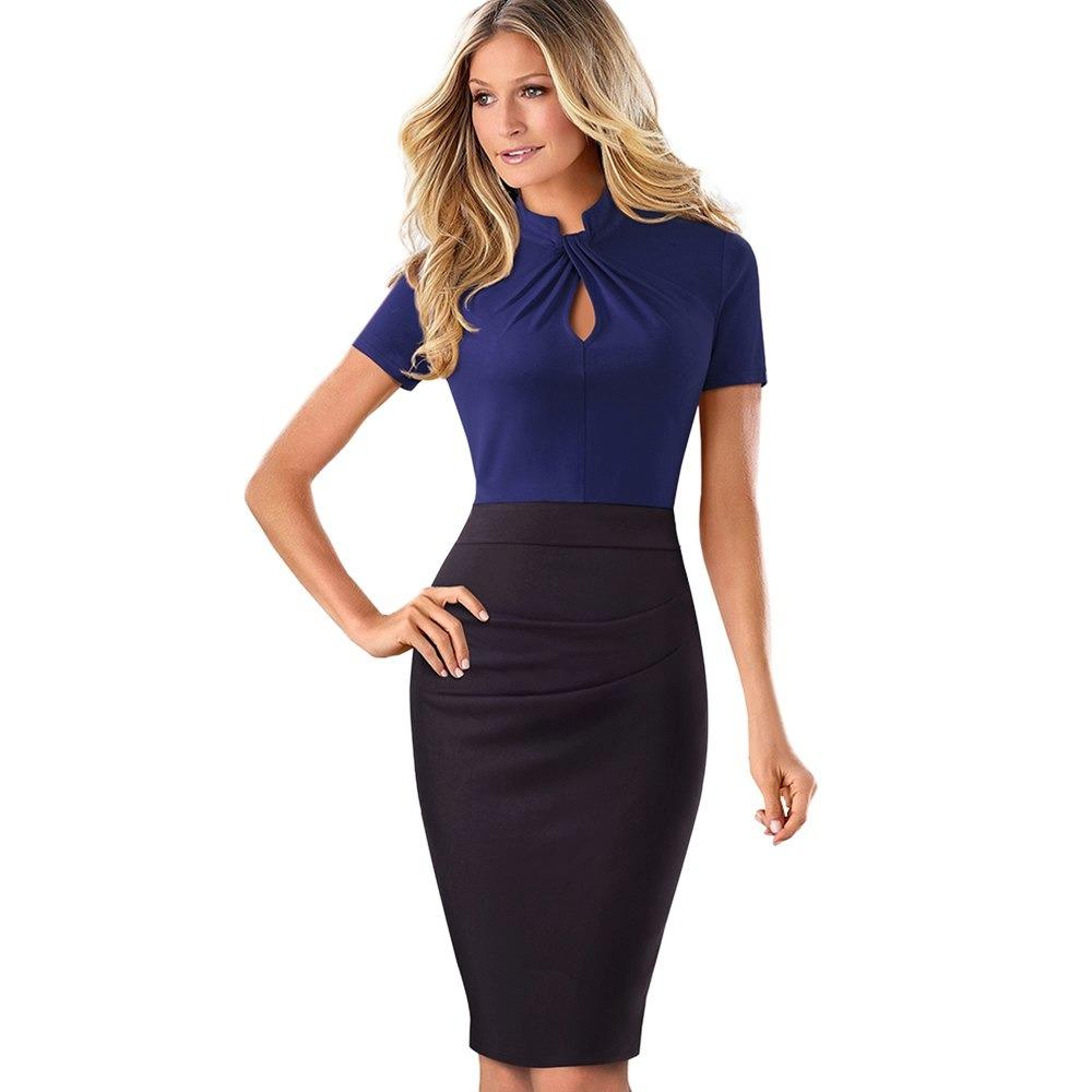 211ef31a503c4 Vestido elegante para oficina corte lápiz mujeres formales cargando zoom  jpg 1000x1000 Vestidos formales para oficina