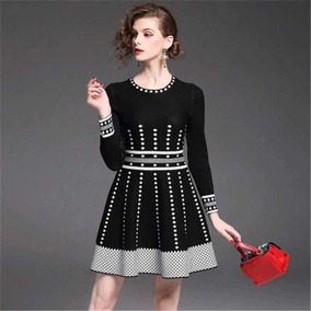 3eb5e8ead Vestido Elegante Princesa Mujer Negro Fiesta Suéter