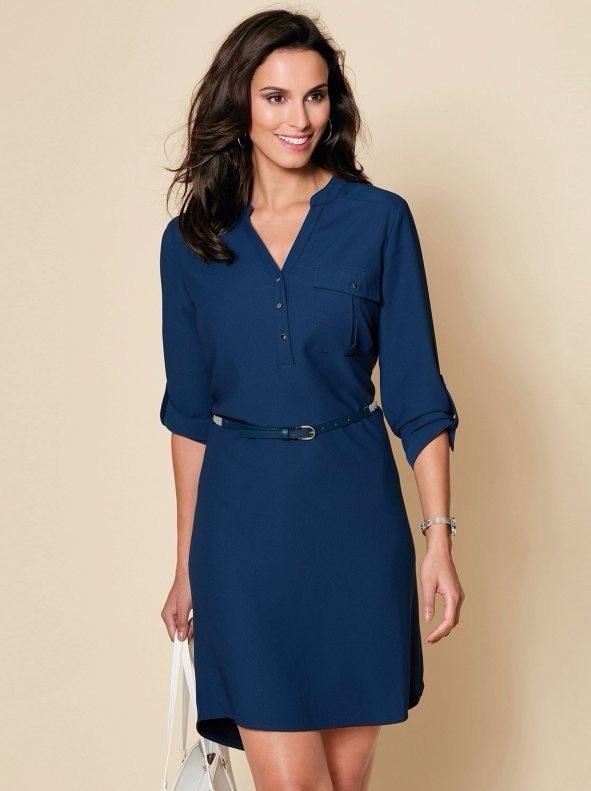 e3ef89c759143 Vestido Elegante Sencillo