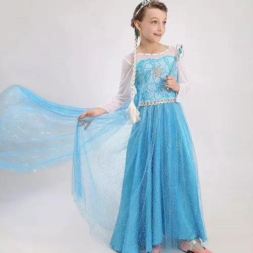 Vestido Elsa Frozen Princesa Do Gelo Elsa Fantasia Frozen