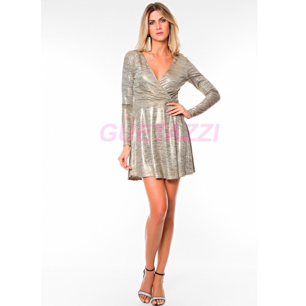 b59bfaca0 Vestido Em Lurex Importado - R$ 189,99 em Mercado Livre