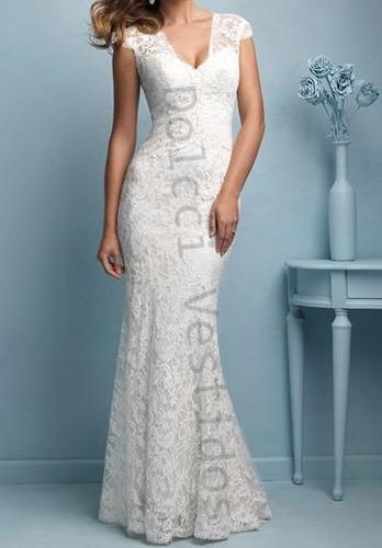 vestido em renda, sereia longo de festa noiva com bojo d061