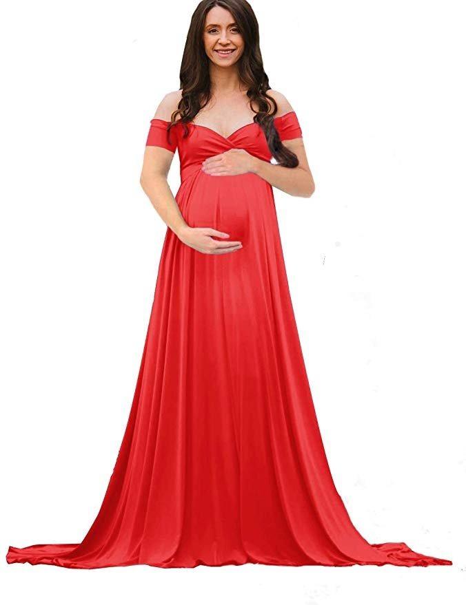 bb58cd8ac vestido embarazada maternidad fotografia color rojo saslax. Cargando zoom.