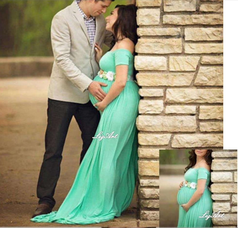 Vestido Embarazadasesion Fotosbaby Showerregalogestante