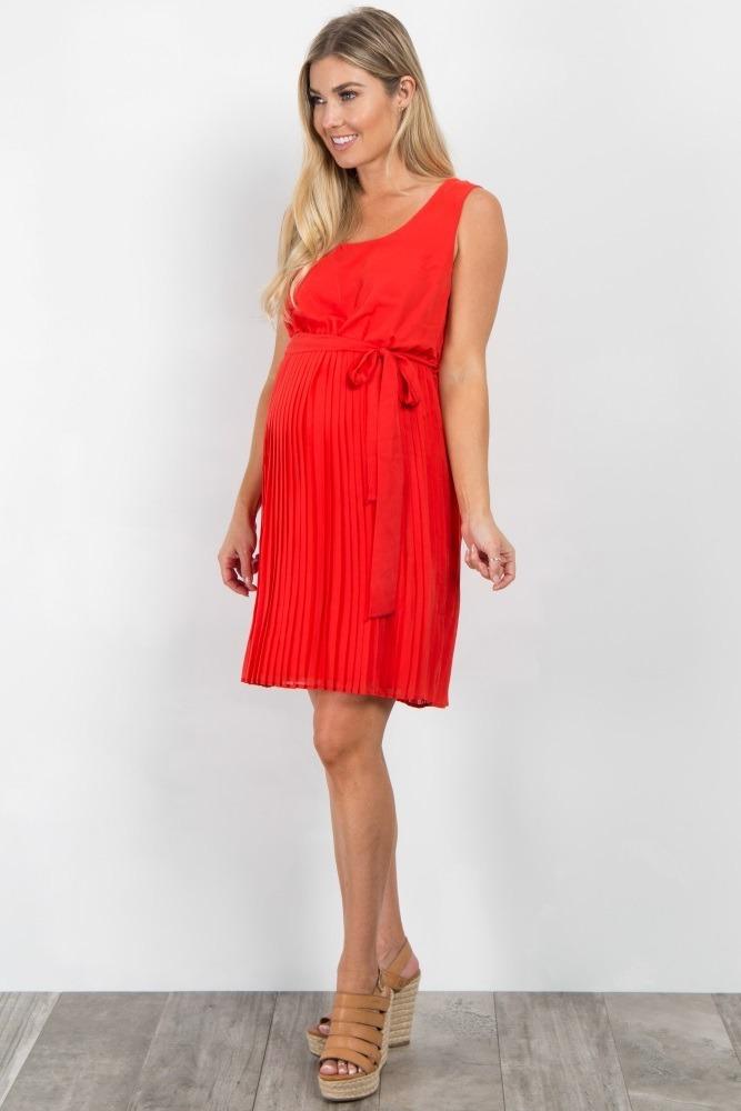 8519491f1 Vestido Embarazo   Maternidad Color Rojo -   600.00 en Mercado Libre