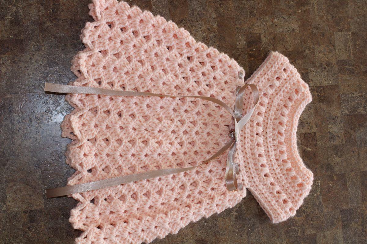8eca17328 Vestido En Crochet Fino Tipo Español Bebe Niña - $ 700.00 en Mercado ...