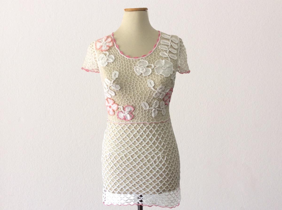 Vestido En Crochet Irlandes Minifalda Para Fiesta - $ 2.400,00 en ...
