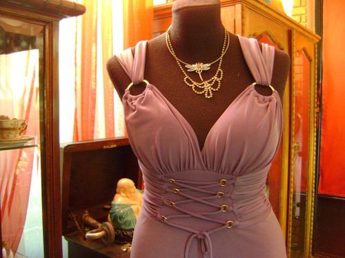 vestido en lycra de seda