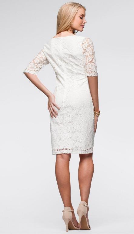 Vestido Encaje Blanco Novia Civil Ve 55 -   31.900 en Mercado Libre 7f91f997fbad