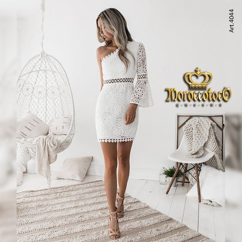 vestido encaje corto civil novia fiesta importado art 4044 - $ 2.999