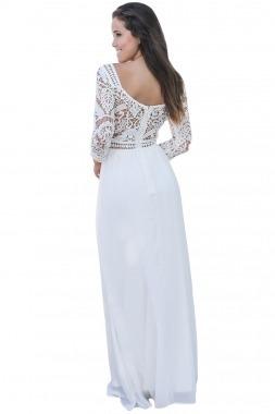 Vestido blanco de fiesta largo