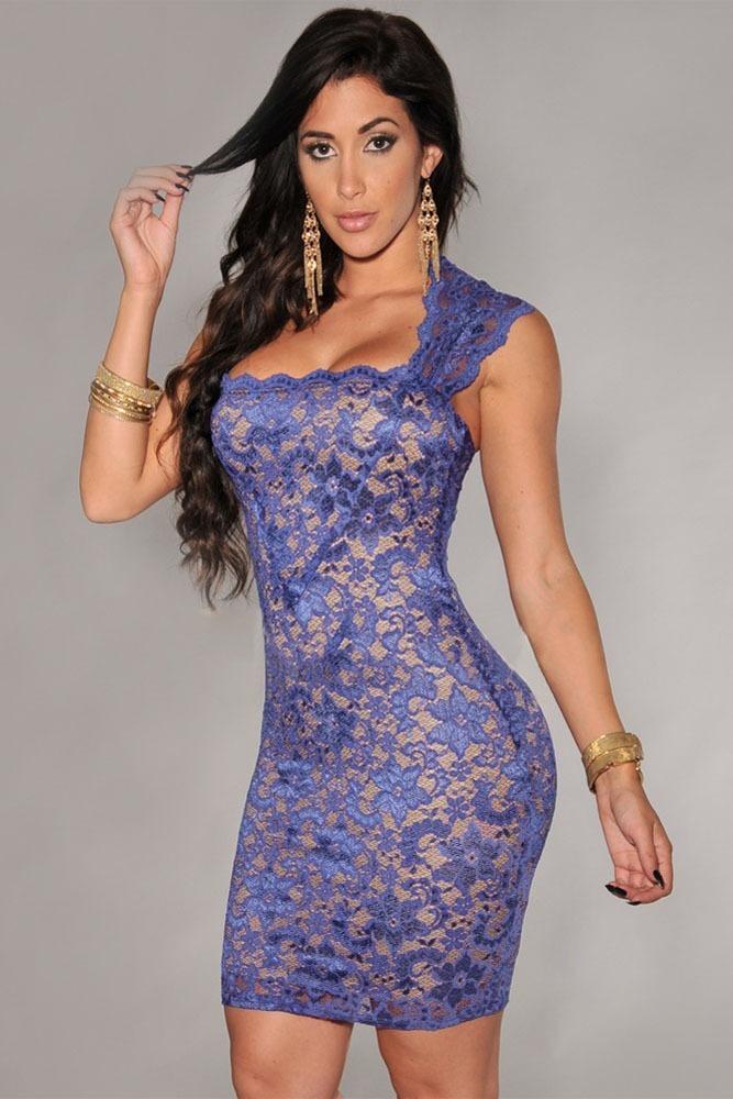 Vestido Encaje Ilusión Desnudo Entallado Bodycon - $ 390.00 en ...