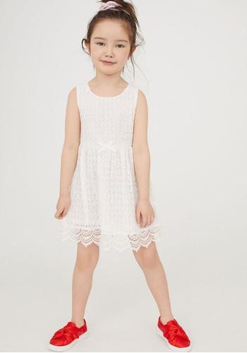 vestido encaje nena talles 2 a 4 y  4 a 6  fiesta importado