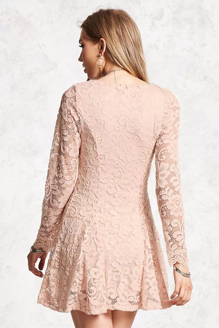 Vestido Encaje Rosa Importado Forever 21 Fiesta Noche - $ 990,00 en ...