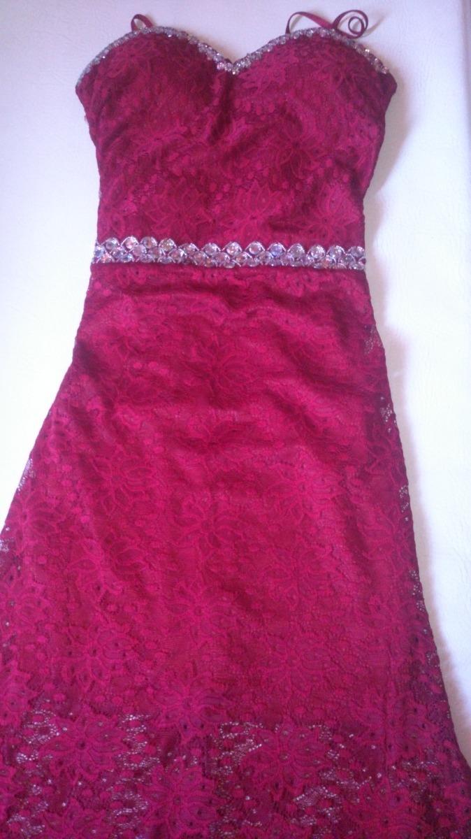 Vestido Encaje Vinotinto - $ 100.000 en Mercado Libre