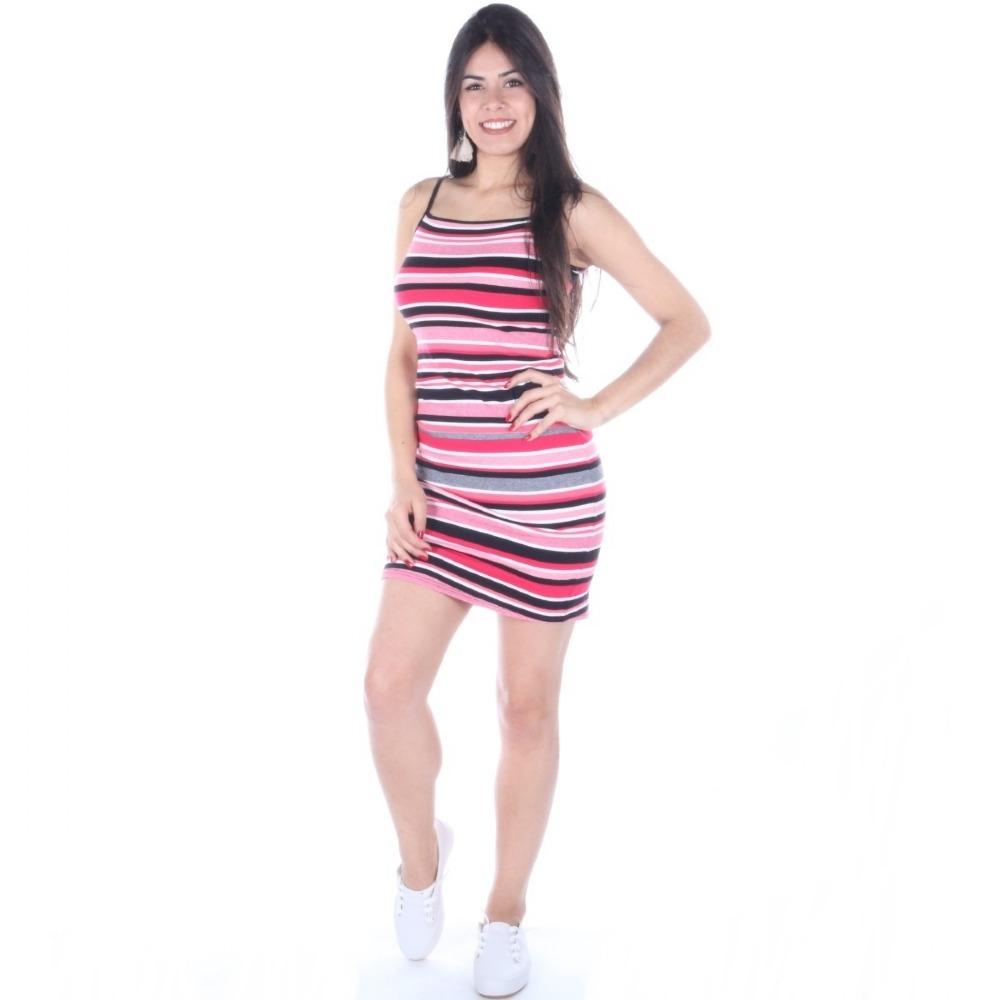d3de82475 Vestido Enfim Midi Listrado De Alcinha - R$ 109,90 em Mercado Livre