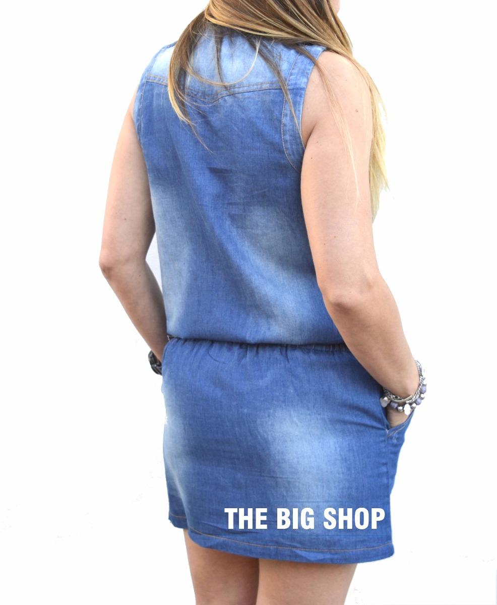 9f92f52d7a Vestido Enterito De Jeans Mujer -   660