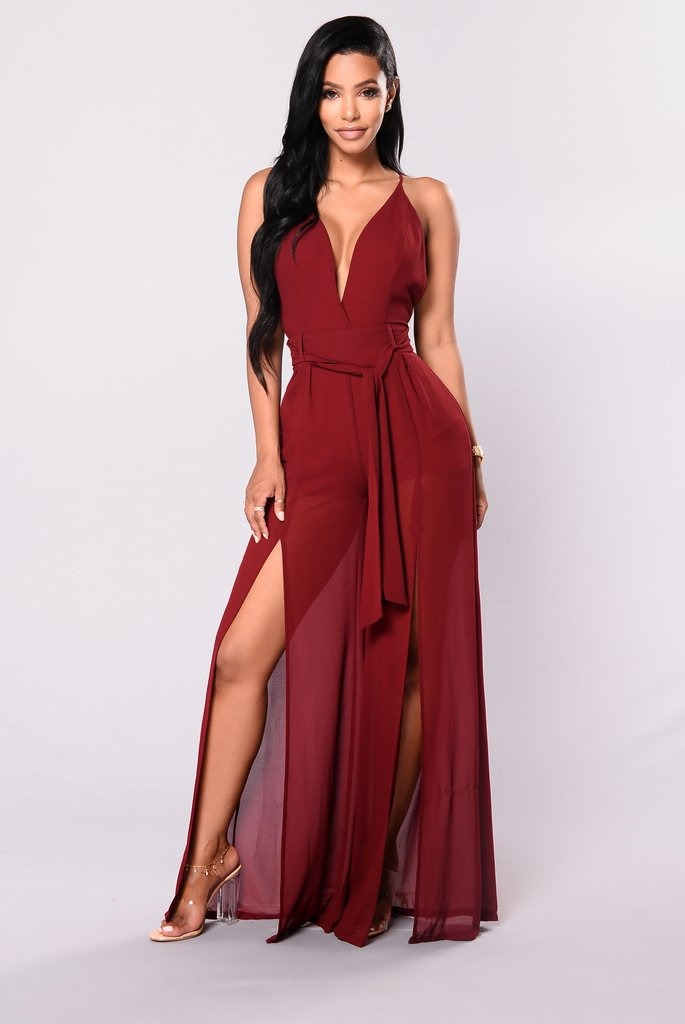 Vestido de mujer elegante largo