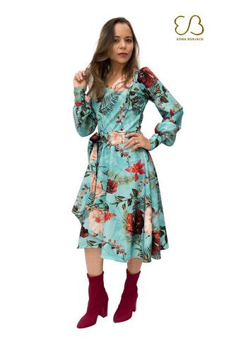 vestido envelope leve vaze,manga longa,moda evangelica luxo