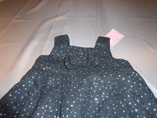 vestido epk negro con brillos nuevo talla 18 meses