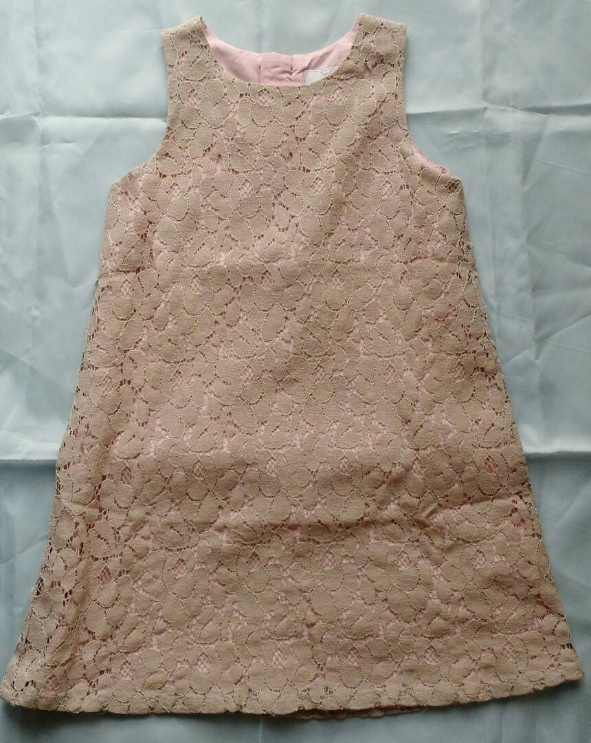 9333033c24 vestido epk talla 5 encaje beige fondo rosado. Cargando zoom.