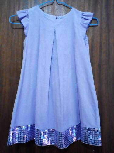 vestido epk talla 6 tela de pana y brillos