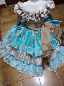 Vestido Escaramuza Niñas Talla 1 Año A 8