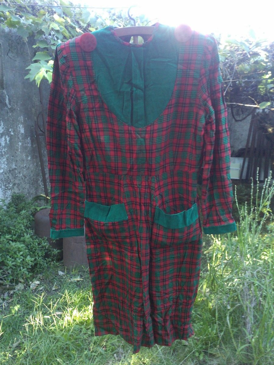 Vestido Escocés De Dama, Talle M. Estilo Retro Vintage - $ 350,00 en ...